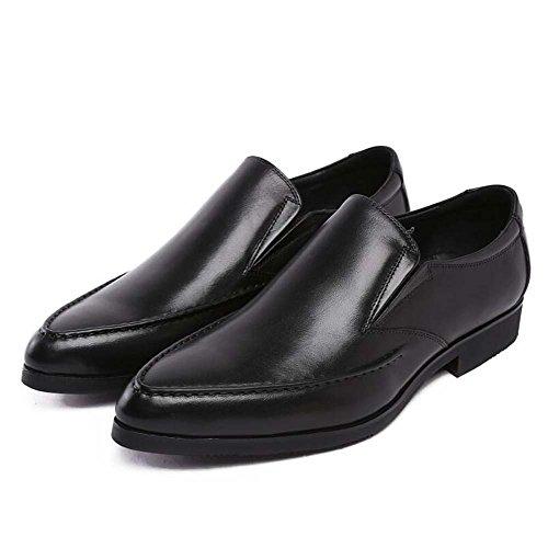 de Pie Negro Zapatos Americana únicos de de Vestido Zapatos Trabajo Tamaño de Zapatos Europea la Cómodos y Color los Hombres del Boda 37 los Versión IxxfBO