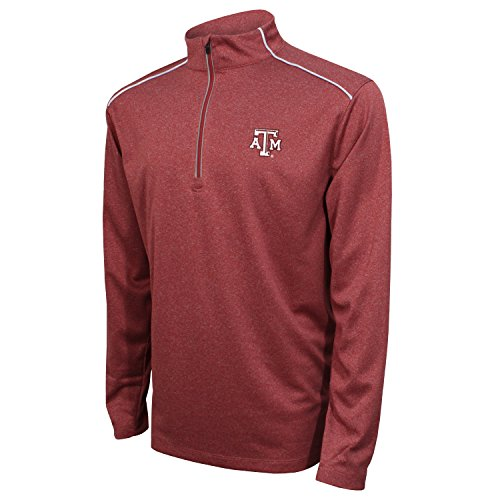 - Crable NCAA Texas A&M Aggies Men's Quarter Zip with Shoulder Piping Polo, X-Large, Maroon/White