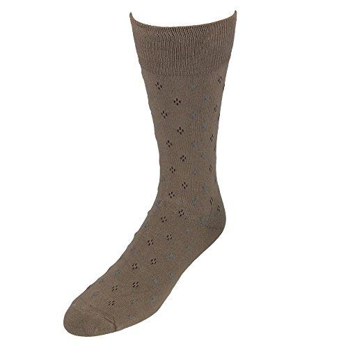Umo Lorenzo Men's Pattern Dress Socks, (Taupe Mens Socks)