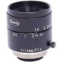 Kowa LM16JC 2/3 16mm F1.4 Manual Iris C-Mount Lens w/ Locking Screws