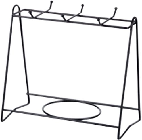 Stylish Cup & Plate Storage Dish Rack Holder Display Stand (Four Cups & Four Plates, Black) (Market Bench World Dining)