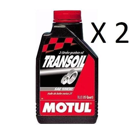 Aceite Motul Cambio embrague Transmisión SAE 10 W30 2T 2 paquetes de 1 litro 320111: Amazon.es: Coche y moto