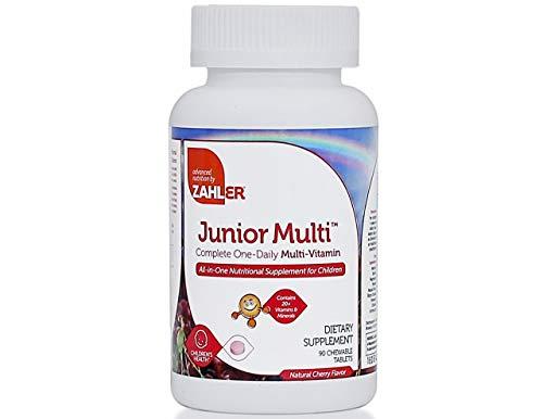 Zahler Junior Multi, Optimal Multivitamin and Mineral Supplement for Kids, Great Tasting Cherry Multivitamin for Children, 90 Chewable Tablets
