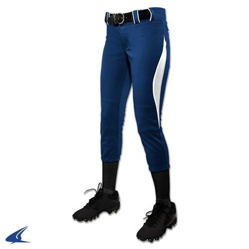 Champroサージ従来Low Rise Fastpitch Pants – Girl 's B0767QNSC3ネイビー/ホワイト Large
