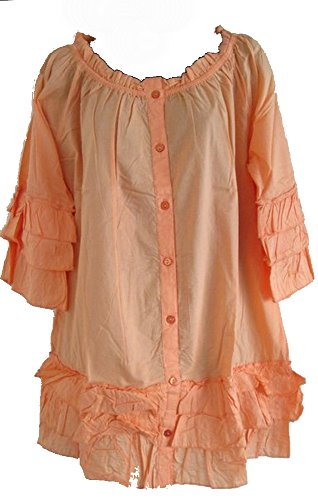 Ellos -  Maglia a manica lunga  - Giacca - Maniche a 3/4 - Donna Arancione Pale Orange