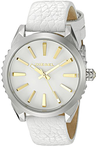 Diesel Women's 'Nuki' Quartz Stainless Steel and White Leather Casual Watch (Model: DZ5501)