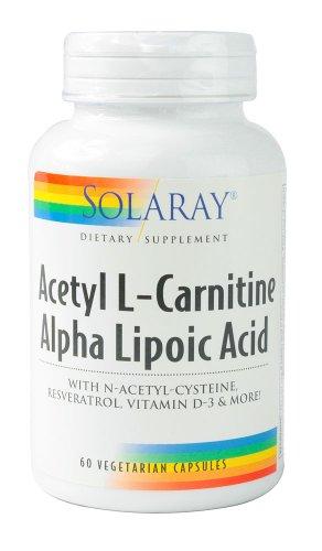 SOLARAY ацетил L-карнитин и Ала Дополнение, 60 граф
