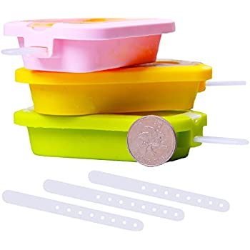 SLUM Silicone Popsicle Molds BPA Free Stackable Ice Pop Molds with Free Sticks