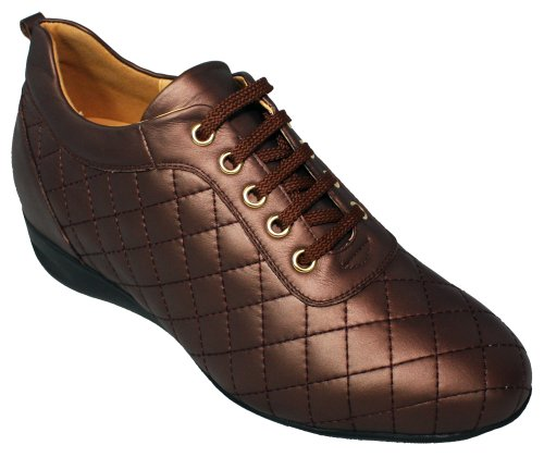 TOTO W1654 – 6,6 cm – Altezza Aumentare Ascensore Scarpe Alte (Dark Chocolate) – Donne, Marrone (Dark Chocolate), 37 EU M