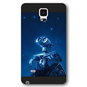 UniqueBox Customized Disney Series Phone Case for Samsung Galaxy Note 4, Lovely Cartoon Waste Allocation Load Lifters-Earth Samsung Galaxy Note 4 Case, Only Fit for Samsung Galaxy Note 4 (Black Frosted Shell)