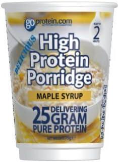 Gachas de avena de alta proteína (25 g, sabor a jarabe de ...