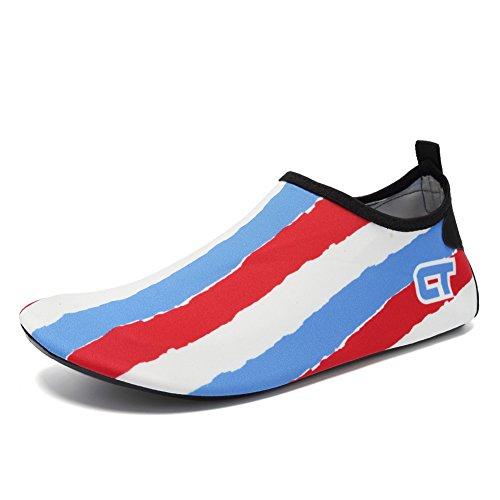 Cior Menn Og Kvinner Barfot Hud Aqua Sko Anti-skli Multifunksjonelle Vann Sko Til Strand Basseng Surfe Yoga Trening T.red 01