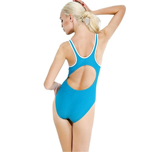 ZOYOL-YT Traje de baño de triángulo de una pieza de bikini Movimiento femenino Beach Swimwear Spa Light Blue