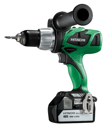 Hitachi DV18DBL 18-Volt 3.0-Ah Cordless Brushless 1/2-Inch Lithium-Ion Hammer Drill, With 2-Batteries and Charger  (Discontinued by Manufacturer)
