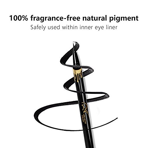 Eyeliner by Rejawece-Liquid Waterproof Eyeliner Pencil - Liquid Eye Liner Gel Quick - Dry Eyeliner Pen - Black
