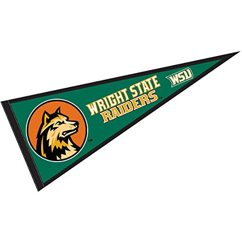 College Flags and Banners Co. Wright State University Pennant Full Size - University State Wright
