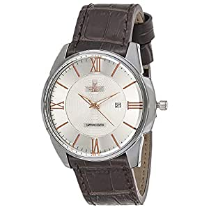 New Fande Men's Silver Dial Leather Band Watch - NF006158