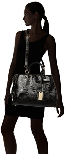 Ashton Womens Croc Leather Work Black Tote SwankySwans Patent Black qOHwdqxE5