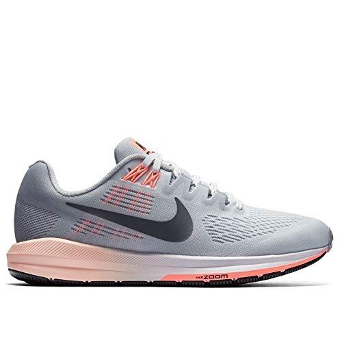 ff0e3e01133 Nike Women's Air Zoom Structure 21 Wolf Grey/Dark Grey Running Shoe 7 Women  US