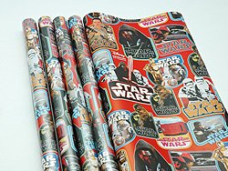 STAR WARS 70 cm X 2 m 4 rotoli di carta regalo Star Wars carta da regalo Disney