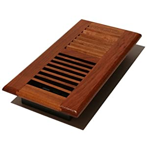 Decor Grates WLC214-N 2-Inch by 14-Inch Wood Floor Register, Natural Brazilian Cherry