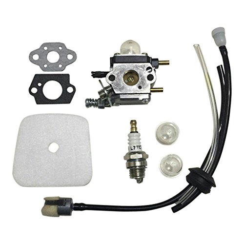 Euros C1U-K54A Carburetor With Air Filter Repower Kit For 2-Cycle Mantis 7222 7222E 7222M 7225 7230 7234 7240 7920 7924 Tiller/Cultivator by Euros