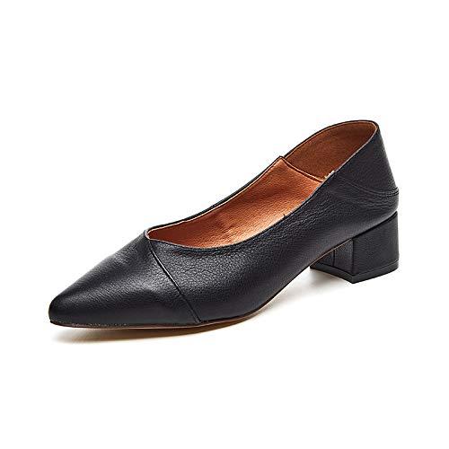 Yukun Schuhe mit hohen Absätzen Herbst Frauen Schuhe Pu Frauen Schuhe Mit Frauen High Heels Flacher Mund Vielseitig Pendeln