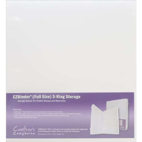 Crafter's Companion EZBinder 3-Ring Storage, Full, 10.75 by 11.625 by 1.5-Inch