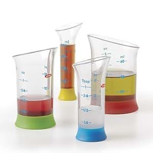 Oxo Soft Works 4 Piece Mini Measuring Beaker Set