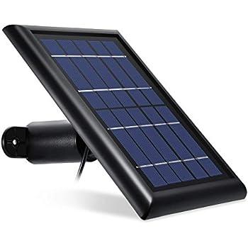 Wasserstein Arlo Solar Panel Compatible with Arlo Pro, Arlo Pro 2 - Power Your Arlo Surveillance Camera continuously (Black)