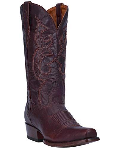 - El Dorado Men's Handmade Chocolate Goatskin Cowboy Boot Snip Toe Chocolate 10 D