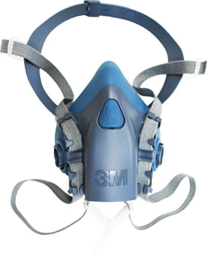 3M Medium Half Facepiece Reusable Respirator 7502/37082(AAD), Respiratory Protection, Medium, with Organic Vapor Cartrid by 3M Personal Protective Equipment