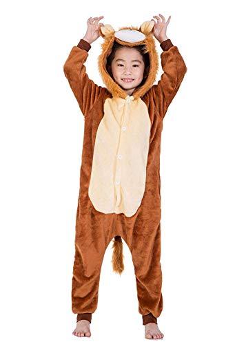Unisex Children Lion Pyjamas Halloween Onesie Costume 130# Height(47-51 -
