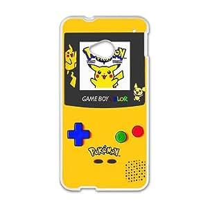 Pokemon Pikachu Pocket Monster White HTC M7 case