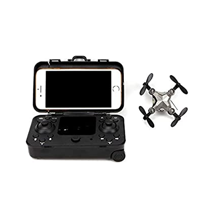 Basde Drone Mini Folding Unmanned Aerial Vehicle Pocket Drone, GPS Return Home Four-Axis Aircraft Portable Drone for Kids, Beginners and Adults - Follow Me, Altitude Hold, Long Control Range