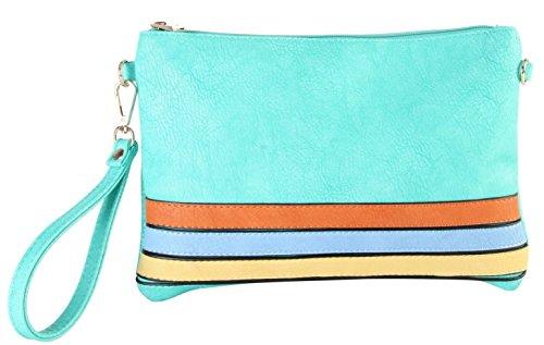 rimen-co-womens-three-tone-strips-convenient-clutch-wrist-wallet-cross-body-handbags-sd-3347-light-g