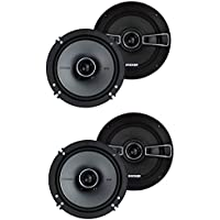 Kicker 41KSC654 6.5 200 Watt 2-Way Car Audio Coaxial Speakers KSC65 (2 Pair)