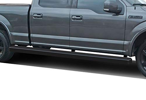 APS iBoard (Black 5 inches Wheel to Wheel) Running Boards Nerf Bars Side Steps Compatible with 2015-2019 Ford F150 SuperCrew Cab 6.5ft Bed Pickup 4-Door & 2017-2019 Ford F-250 F-350 Super Duty
