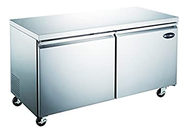 Commercial Under Counter Refrigerator Cooler with 2 Door and 60'' in Length