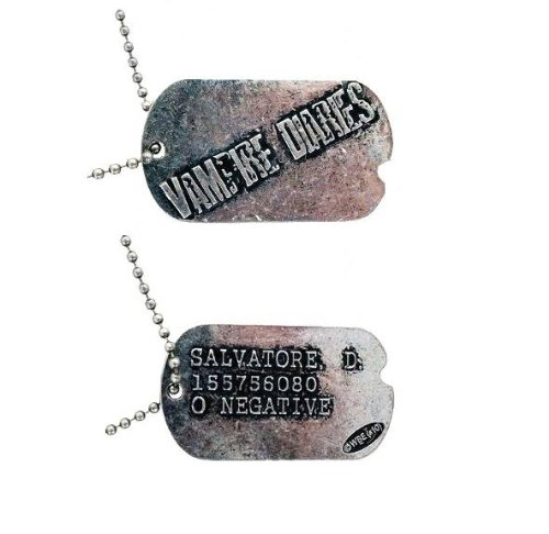Vampire Diaries Salvatore D. Dog Tag Necklace TV Show by Vampire Diaries (Image #1)