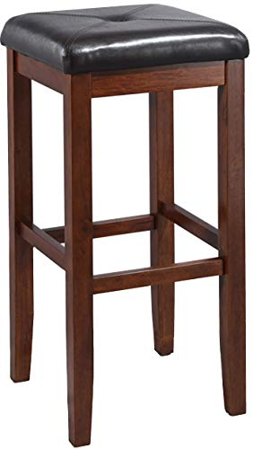 Crosley Furniture CF500529-MA Upholstered Square Seat Bar Stool (Set of 2), 29-inch, Vintage Mahogany ()