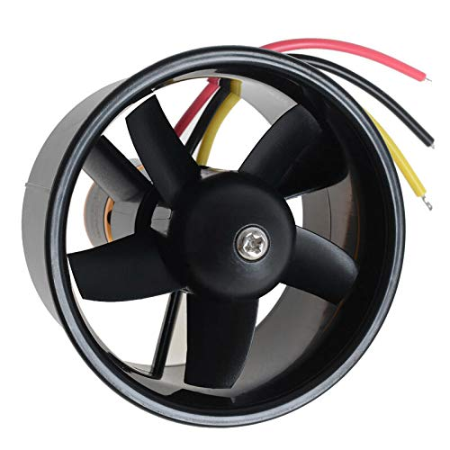 Shumo 64mm Duct Fan Unit with 4500KV 5 Leaves Brushless Outrunner Motor for RC EDF Jet AirPlane