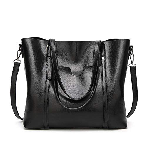 FADPRO Women Retro Tote Bags Top Handle Satchel Handbags Faux Leather Shoulder Zipper Vintage Purse