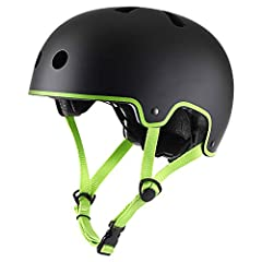 Protecting yourself from injury during skateboarding is very important and a helmet is arguably the most important part of your skateboard gear. This TurboSKE helmet has a hard ABS shell and an EPS foam liner glued to the inside. The hard-she...