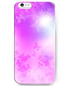 UKASE Deluxe Apple iPhone 6 Case 4.7 inch with Cute Design of Butterflies And Sunshine by runtopwell