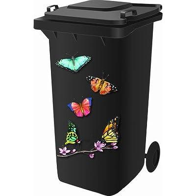 Rowan Kit stickers pour poubelle à roulettes Design papillon