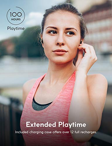 True-Wireless Headphones, ZOLO Liberty [Upgraded] 8-Hour Playtime (100 Hours with Charging Case), Bluetooth 5 Bluetooth Earbuds with Graphene Driver Technology, IPX5 Sweatproof, Handsfree Stereo Calls by Zolo (Image #3)