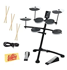 This Bundle Includes: (1) Roland TD-1K Electronic Drum Set (3) Zildjian Trigger Wood Anti-Vibe Drumsticks - Pair (1) 3.5mm Stereo Plug to 3.5 mm Stereo Plug Cable - 6ft (1) Boss BDC-01 Detailing Cloth