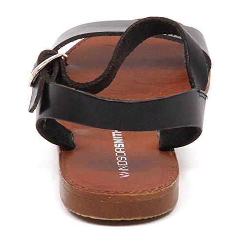 Vintage without Woman Box Nero Scarpe Smith Sandalo Donna Windsor Shoe E0152 EqgFvR8