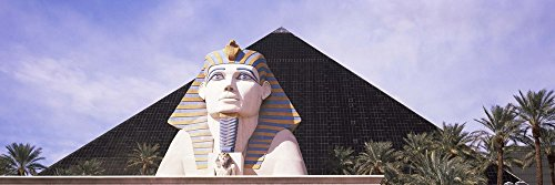 Statue in Front of a Hotel, Luxor Las Vegas, The Strip, Las Vegas, Nevada, USA by Panoramic Images Art Print, 33 x 11 inches